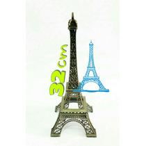 Torre Eiffel Paris 32 Cm - Adorno Para Eventos