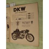 Publicidad Moto Dkw Rt 150 Año 1961