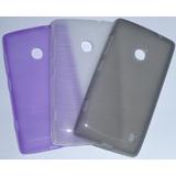 Capa Nokia Lumia 520 Case Premium + Película Top++