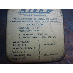 6bq5. (2) Transformadores De Salida De Audio Para 6bq5--el84