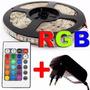 Fita Led Rgb 5050 Rolo 5m + Controle + Fonte 3a