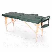 Mesa Maca Massagem Dobrável Divã Portátil Estética Verde Esc
