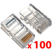 Ficha Rj45 X100 | Para Cable Red Utp | Conector Plug