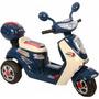 Lambreta Moto Elétrica Azul Mini Veículo Moto