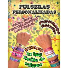 99 Pulseras Personalizadas 1.5 Cm Publicidad Fiesta Politica