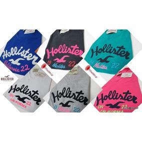 Camiseta Kit C/ 10 Feminina Hollister/ Blusinhas Hollister/