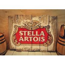 Letrero Anuncio Viejo Cerveza Madera Tipo Vintage O Antiguo