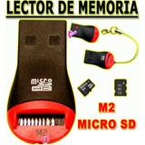 Adaptador Lector De Memoria M2 / Micro Sd A Usb P/ Celular