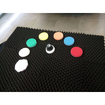 Kit De Pads 2.2 Pulgadas Con Backing Plate Flexible