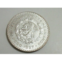 Moeda De Prata Do México 1 Peso 1957 Sob/fc