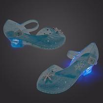 Zapatos Elsa Frozen Con Luz Disfraz Disney Store 32/33