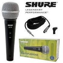 Shure Microfono Dinamico Vocal Sv100 + Cable Canon Plug