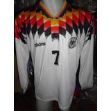 Camiseta Fútbol Selección Alemania Mundial 94 1994 Moller #7
