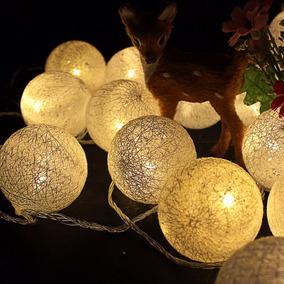 Cordão De Luz - Luminoso - Bolas Brancas - 110v Ou 220v