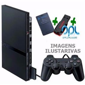 Playstation 2 Slim Somente P/ Jogar C Pendrive Sem Leitor