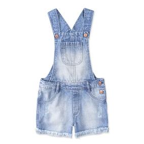 Jardineira Jeans Infantil Feminina Hering Kids C6t4jejpr