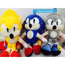 Sonic Pelúcia Boneco 45 Cm Kit Com 3 Unid. Frete Grátis