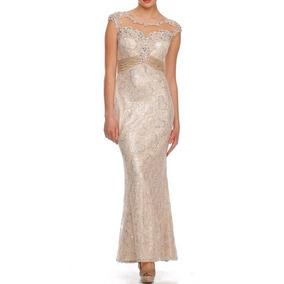 Vestido De Fiesta Juliet Modelo 554 # S Color Champagne