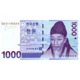 Grr-billete De Corea Del Sur 1000 Won 2007