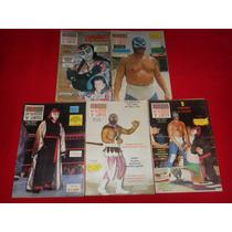 Lucha Libre - Lote De 5 Revistas Mi Lucha Años 90