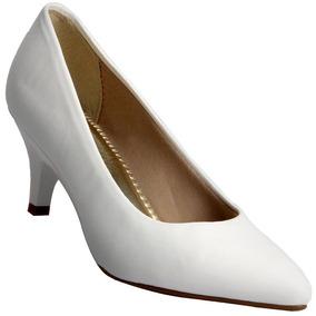 Sapato Feminino Salto Cor Branco Conforto Beira Rio