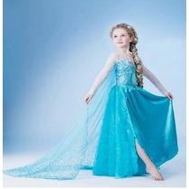 Fantasia Disney Elza Frozen -no Brasil Pronta Entrega