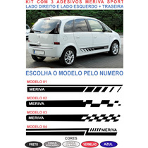Acessorios Faixa Lateral E Traseira Meriva Chevrolet Adesivo