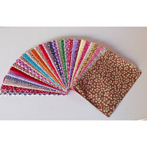 Kit 30 Tecidos Tricoline 100% Algodão Patchwork Mini Floral
