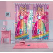 Cortina Varão Barbie Reino Do Arco- Íris 3,00 X 2,20 Lepper
