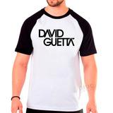 Camiseta Raglan David Guetta Dj Camisa