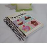 Caderno Receitas M Capa Em Mdf Pintura Decoupage Cup Cakes