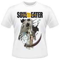 Camiseta Soul Eater Maka Albarn Anime Artbook Camisa Verso