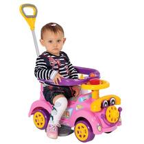 Carrinho De Passeio Ring Car Rosa Andador Bebê