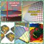 (rede Colorida Proteção Cama Elastica 4.27/4.30 Frete Gratis