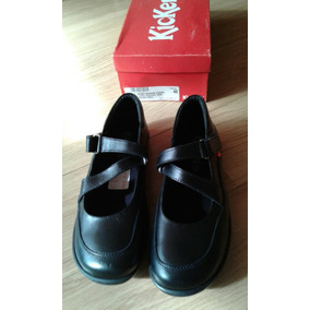 Zapatos Colegiales Kickers Niñas Negro Napa - Sólo Talla 40