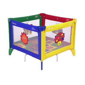 Corral Graco Multicolor Cuadrado Para Bebes Niños Nuevo