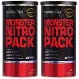 Kit C/ 2x Monster Nitro 44 Packs - Probiótica - Nova Formula
