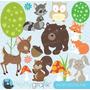 Kit Imprimible Animales Del Bosque Imagenes Clipart Cod 2