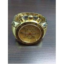 Relógio De Luxo Esportivo Com Pulseira De Aço Na Cor Ouro