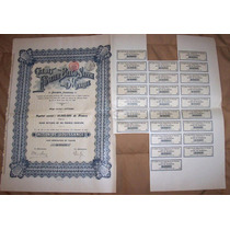 Escasa Accion/bono Credit Foncier Belgo Suisse 1911 !!
