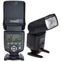Novo Flash Yongnuo Yn560iv /yn560 4 C/ Rádio Flash Imbutido