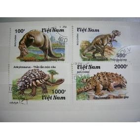 Rb829 - Selos Dinossauros Fauna Pré-história Vietnã
