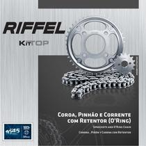 Kit Relação Riffel Fazer 250 Corrente Retentor Pinhão Coroa