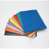 10 Carpeta Color Oficio Con Elastico 3 Tres Solapas Legajo