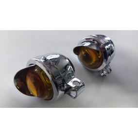 Farol Auxiliar Mini Olho De Boi Motos Custom Carros Antigo