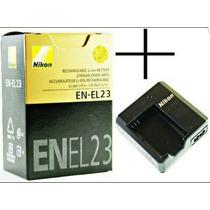 Bateria Nikon En-el23 Original + Carregador Mh-67p P900 P610