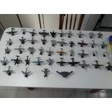 44 Miniaturas De Réplicas De Aviões Com Pedestal