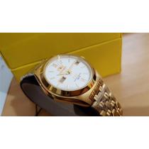 Relógio Orient Automatico Calendario Plaque Ouro 5a00qw9