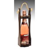 Porta Garrafa Vinho Espumante Madeira Estilo Colonial Decora