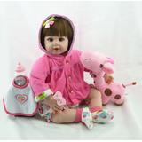 Boneca Bebê Reborn A Pronta Entrega Importada Com Acessórios